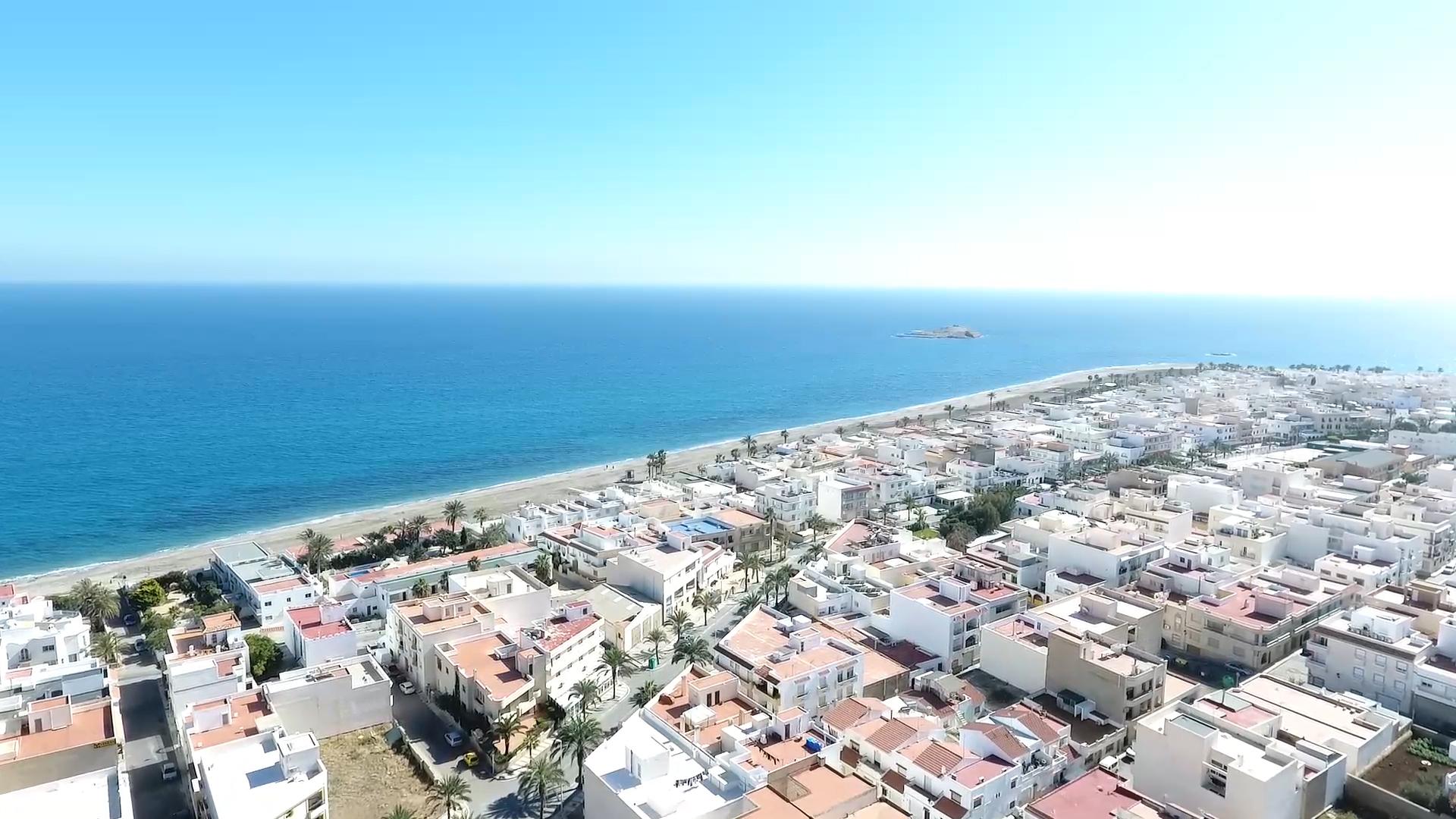 Carboneras fotografía aérea, Siente Carboneras